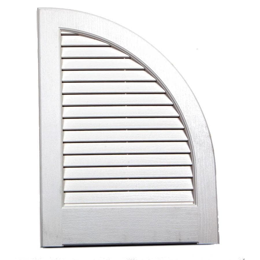 Severe Weather 2-Pack White Louvered Vinyl Exterior Shutters (Common: 15-in x 17-in; Actual: 14.5-in x 17-in)