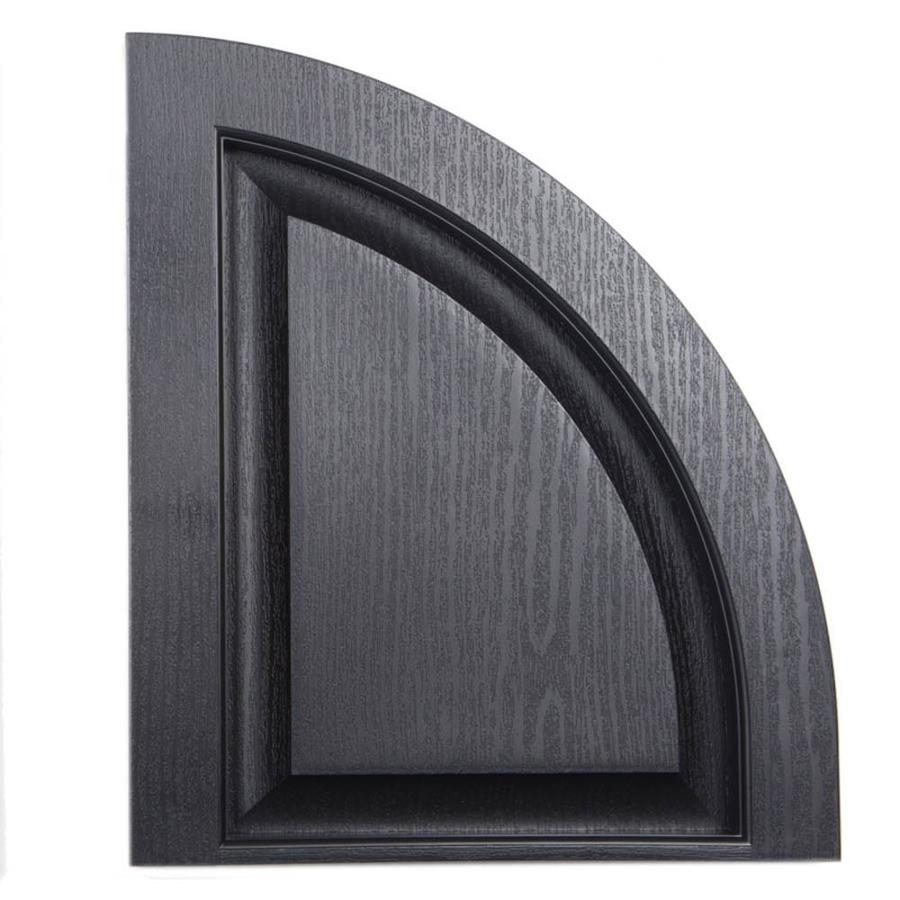 Severe Weather 2-Pack Black Raised Panel Vinyl Exterior Shutters (Common: 15-in x 17-in; Actual: 14.5-in x 17-in)
