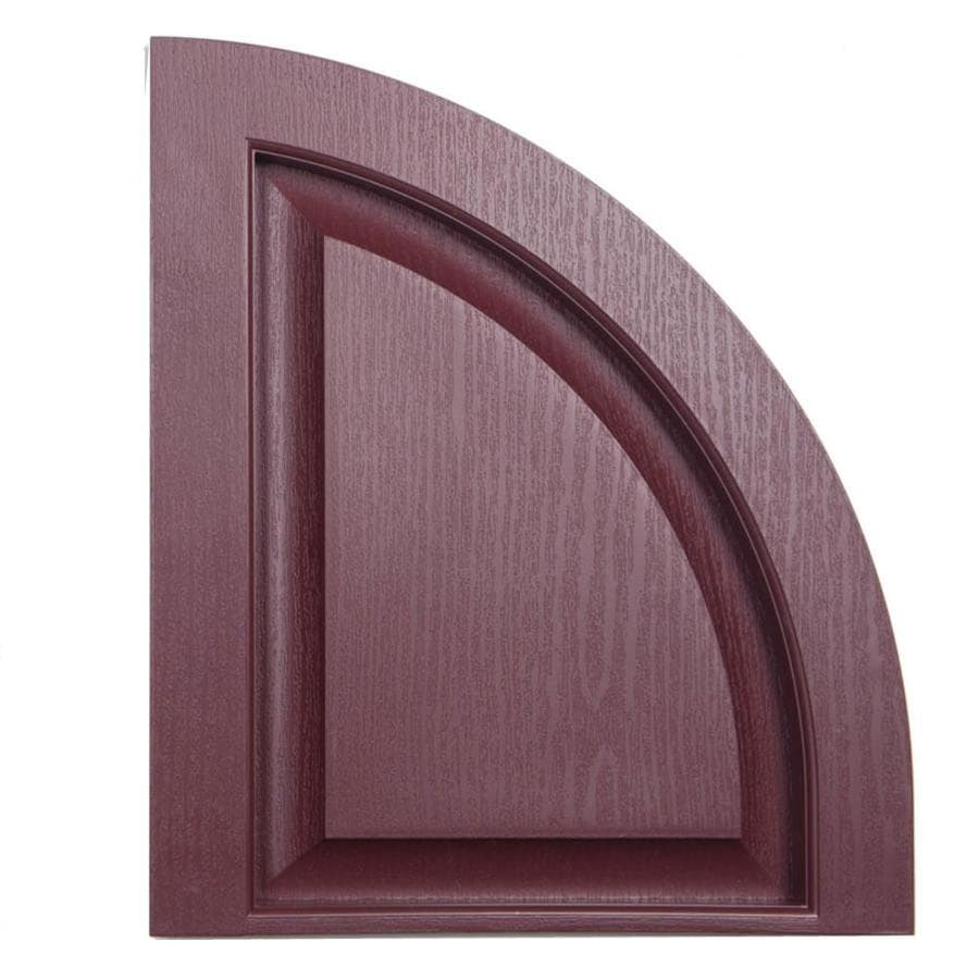 Severe Weather 2-Pack Bordeaux Raised Panel Vinyl Exterior Shutters (Common: 15-in x 17-in; Actual: 14.5-in x 17-in)