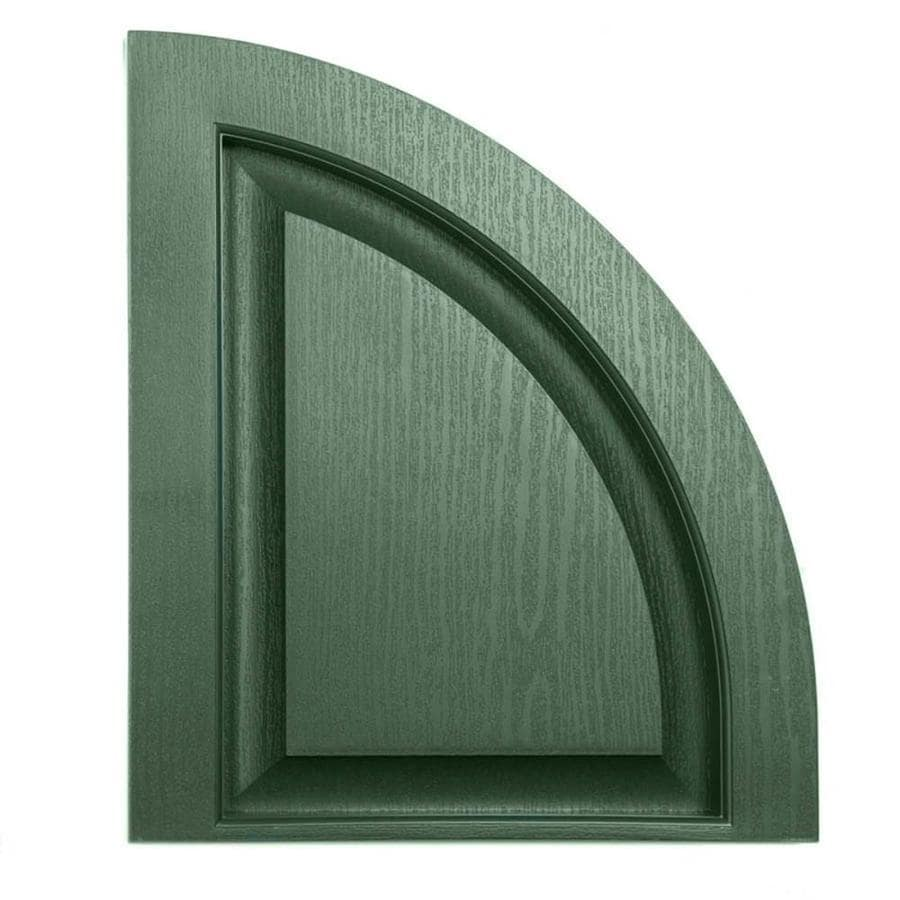 Severe Weather 2-Pack Heritage Green Raised Panel Vinyl Exterior Shutters (Common: 15-in x 17-in; Actual: 14.5-in x 17-in)
