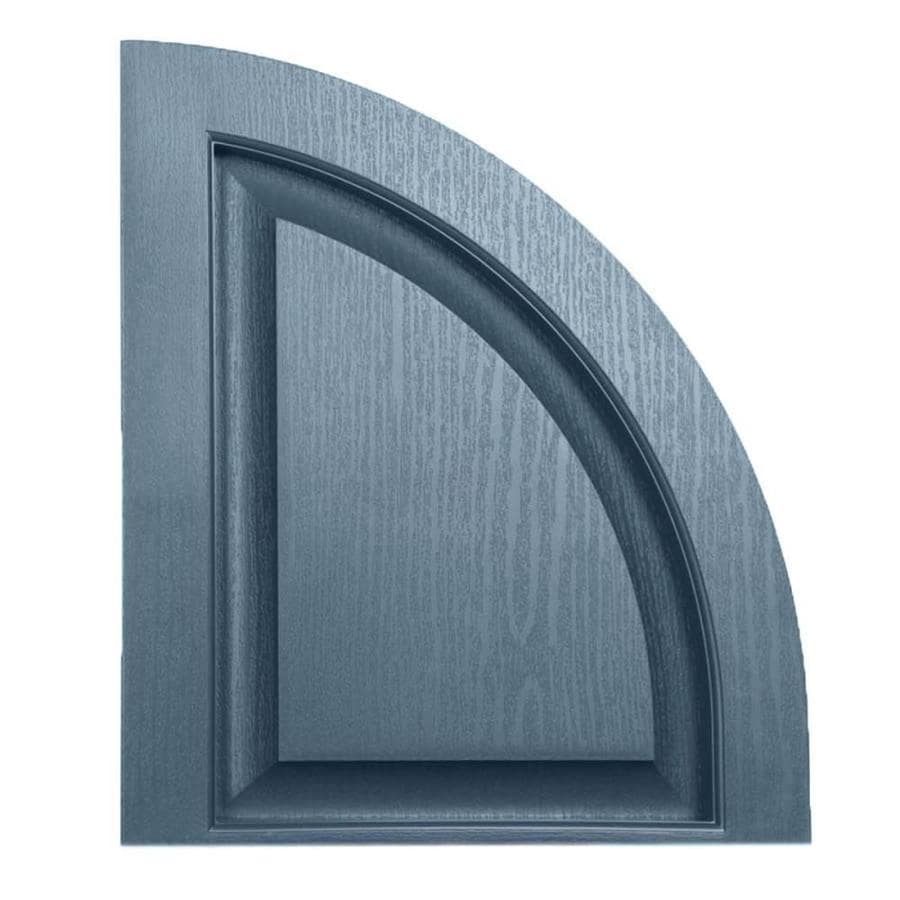 Severe Weather 2-Pack Midnight Blue Raised Panel Vinyl Exterior Shutters (Common: 15-in x 17-in; Actual: 14.5-in x 17-in)