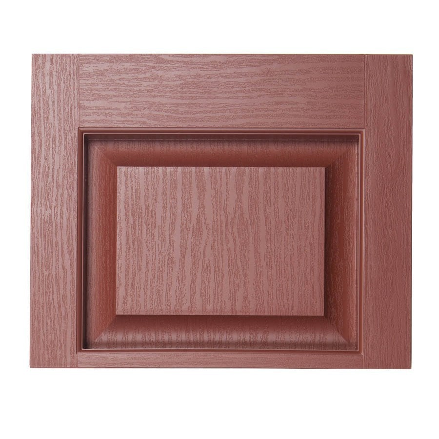 Severe Weather 2-Pack Earthen Red Raised Panel Vinyl Exterior Shutters (Common: 15-in x 12-in; Actual: 14.5-in x 11.875-in)