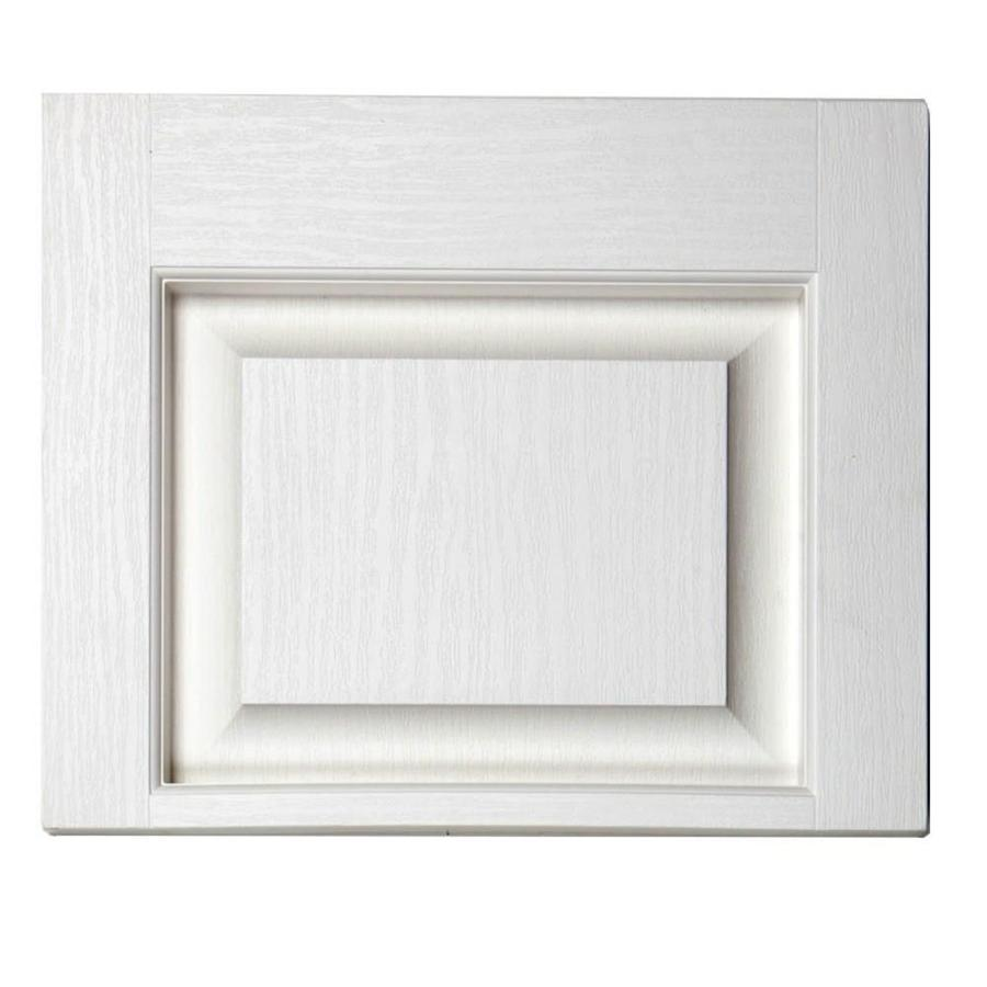Severe Weather 2-Pack White Raised Panel Vinyl Exterior Shutters (Common: 15-in x 12-in; Actual: 14.5-in x 11.875-in)