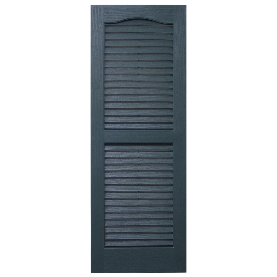 Severe Weather 2-Pack Heritage Green Louvered Vinyl Exterior Shutters (Common: 15-in x 71-in; Actual: 14.5-in x 70.5-in)