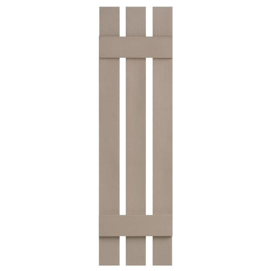 Severe Weather 2-Pack Sandstone Board and Batten Vinyl Exterior Shutters (Common: 12-in x 31-in; Actual: 12.38-in x 31-in)