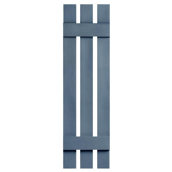 Alpha 2 Pack 15 In W X 31 In H Indigo Blue Board And Batten Vinyl Exterior Shutters In The