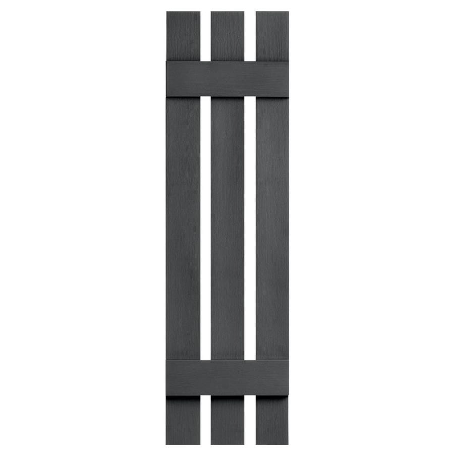 Severe Weather 2-Pack Granite Board and Batten Vinyl Exterior Shutters (Common: 12-in x 31-in; Actual: 12.38-in x 31-in)