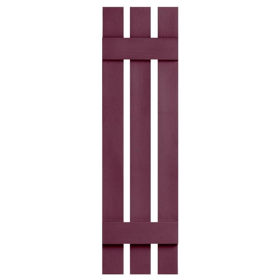 Severe Weather 2-Pack Bordeaux Board and Batten Vinyl Exterior Shutters (Common: 12-in x 35-in; Actual: 12.38-in x 35-in)