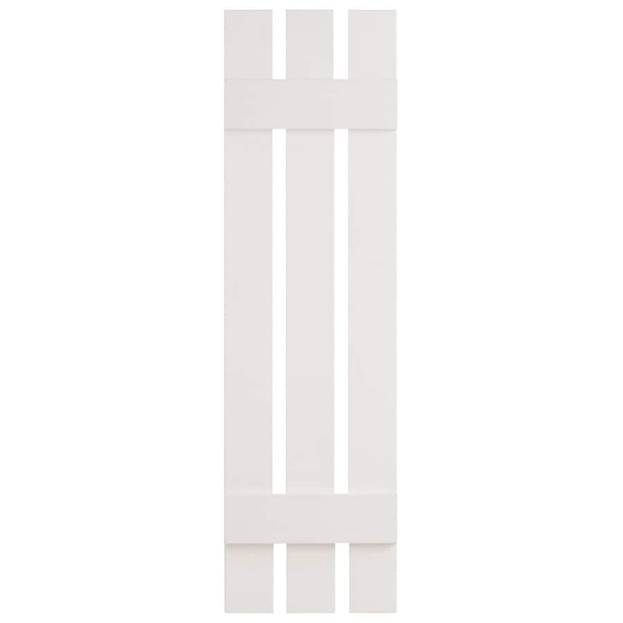 Severe Weather 2-Pack White Board and Batten Vinyl Exterior Shutters (Common: 12-in x 35-in; Actual: 12.38-in x 35-in)