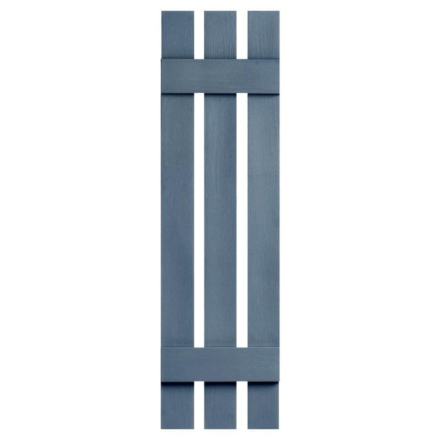 Severe Weather 2-Pack Midnight Blue Board and Batten Vinyl Exterior Shutters (Common: 12-in x 39-in; Actual: 12.38-in x 39-in)