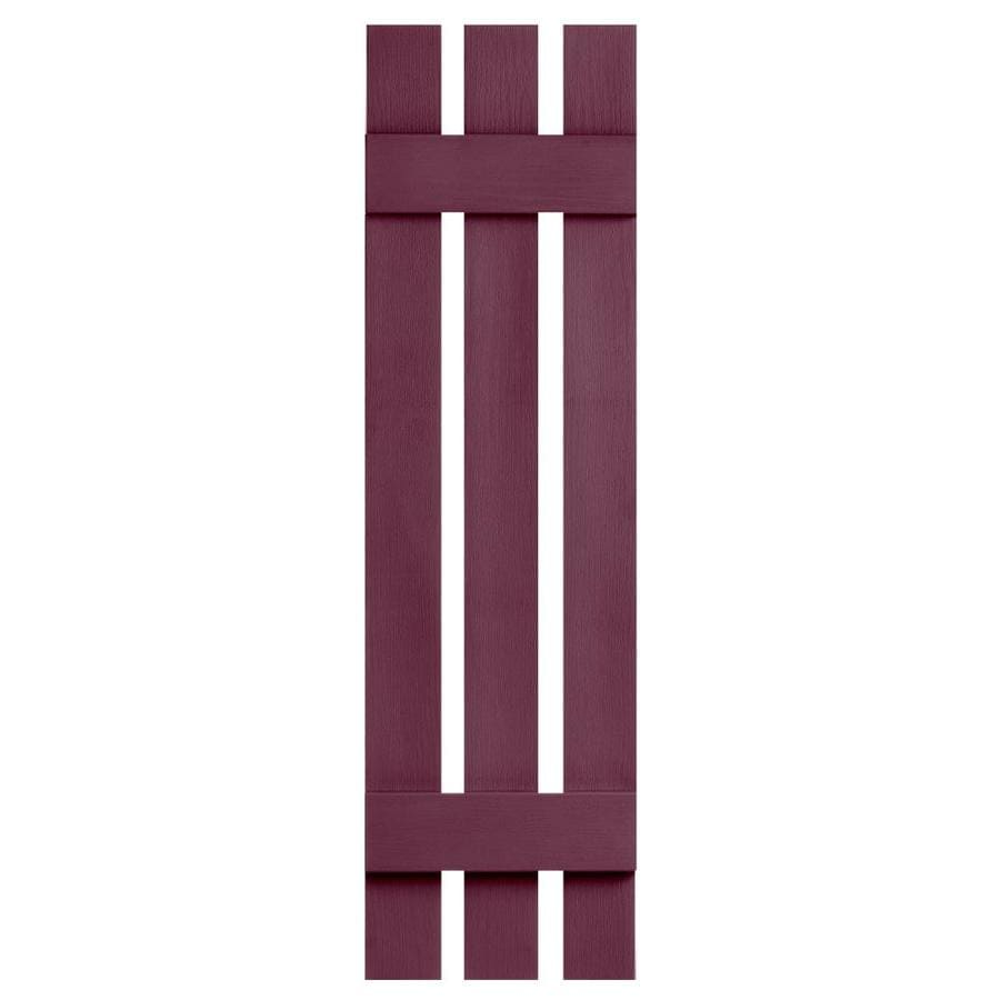 Severe Weather 2-Pack Bordeaux Board and Batten Vinyl Exterior Shutters (Common: 12-in x 51-in; Actual: 12.38-in x 51-in)