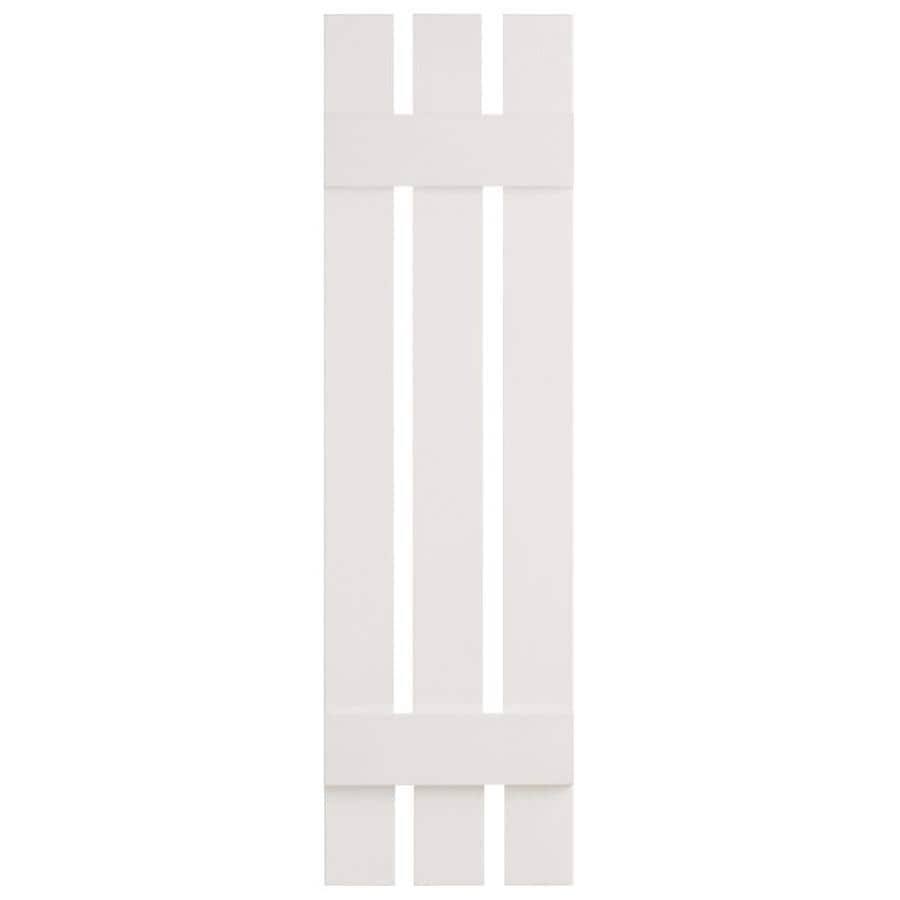 Severe Weather 2-Pack White Board and Batten Vinyl Exterior Shutters (Common: 12-in x 51-in; Actual: 12.38-in x 51-in)
