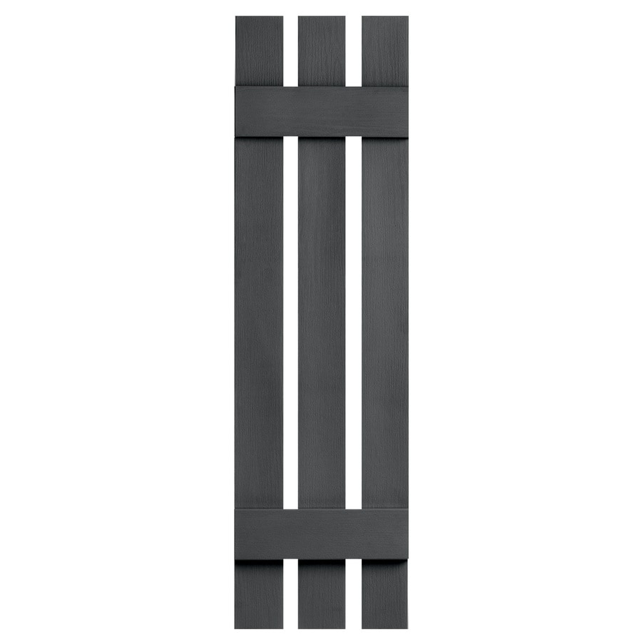 Severe Weather 2-Pack Granite Board and Batten Vinyl Exterior Shutters (Common: 12-in x 51-in; Actual: 12.38-in x 51-in)