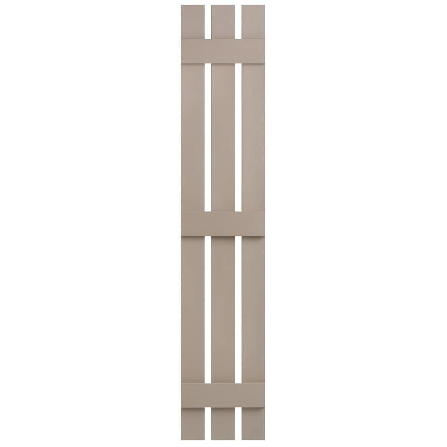 Severe Weather 2-Pack Sandstone Board and Batten Vinyl Exterior Shutters (Common: 12-in x 55-in; Actual: 12.38-in x 55-in)