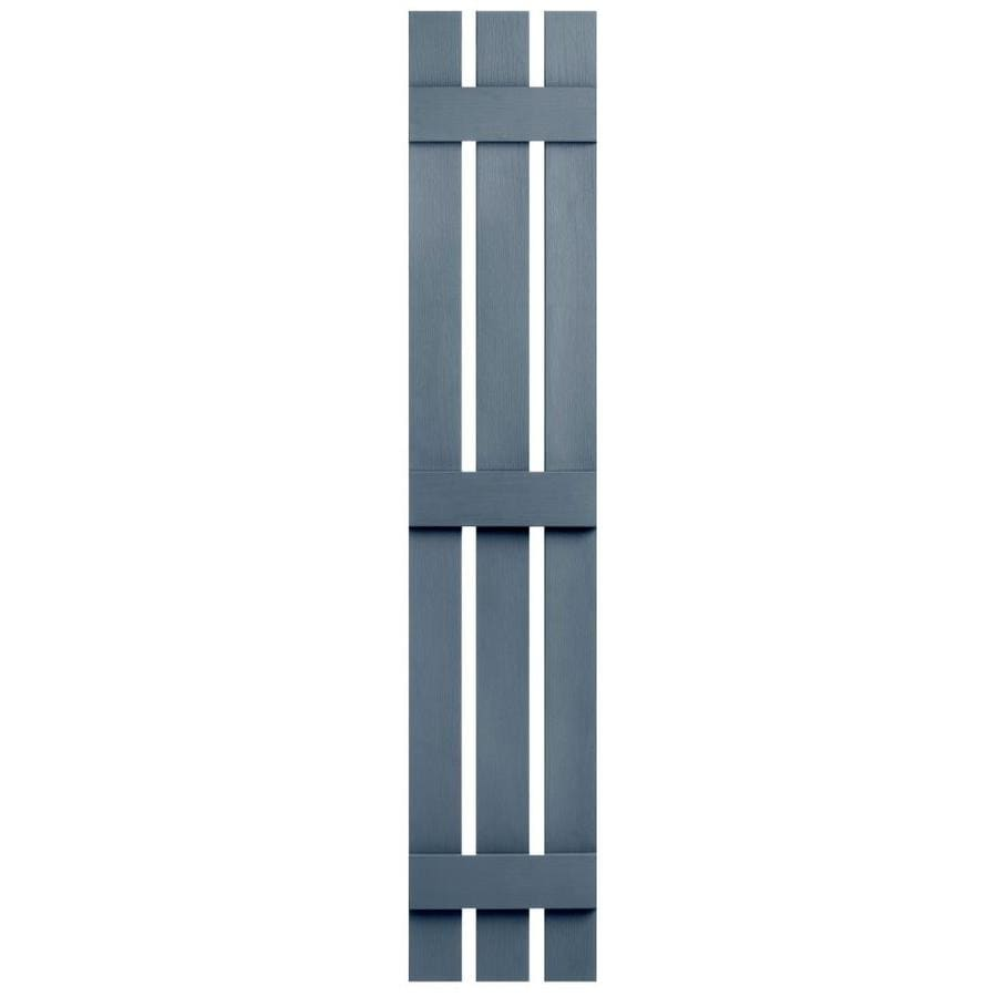 Severe Weather 2-Pack Midnight Blue Board and Batten Vinyl Exterior Shutters (Common: 12-in x 55-in; Actual: 12.38-in x 55-in)