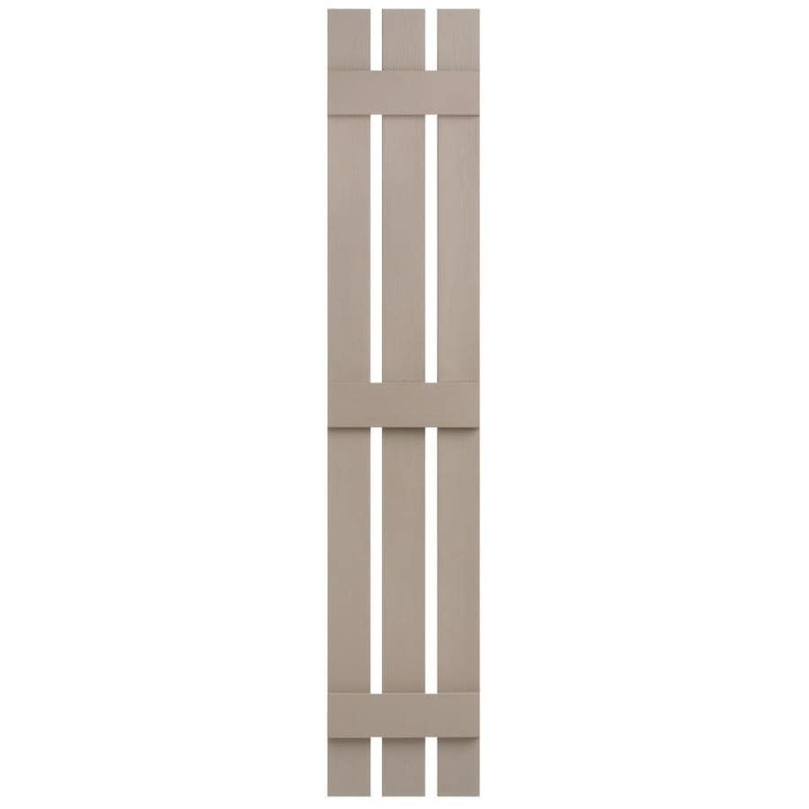 Severe Weather 2-Pack Sandstone Board and Batten Vinyl Exterior Shutters (Common: 12-in x 59-in; Actual: 12.38-in x 59-in)