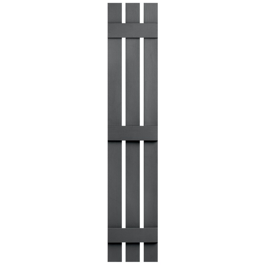 Severe Weather 2-Pack Granite Board and Batten Vinyl Exterior Shutters (Common: 12-in x 63-in; Actual: 12.38-in x 63-in)