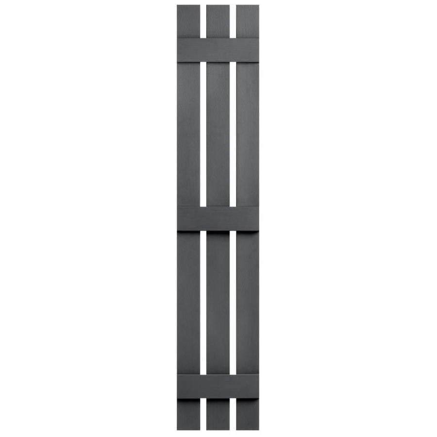 Severe Weather 2-Pack Granite Board and Batten Vinyl Exterior Shutters (Common: 12-in x 75-in; Actual: 12.38-in x 75-in)