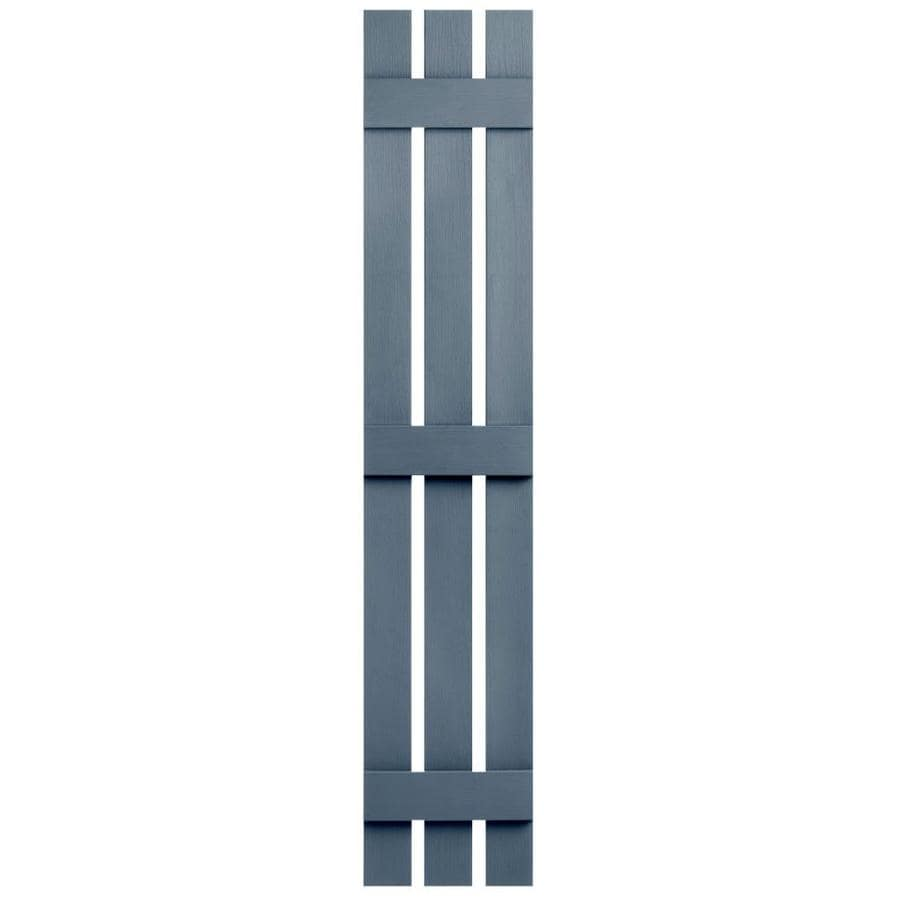 Severe Weather 2-Pack Midnight Blue Board and Batten Vinyl Exterior Shutters (Common: 12-in x 81-in; Actual: 12.38-in x 81-in)
