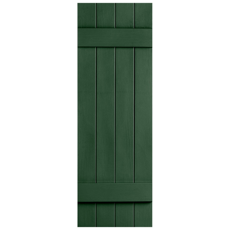 Severe Weather 2-Pack Heritage Green Board and Batten Vinyl Exterior Shutters (Common: 14-in x 35-in; Actual: 14.31-in x 35-in)