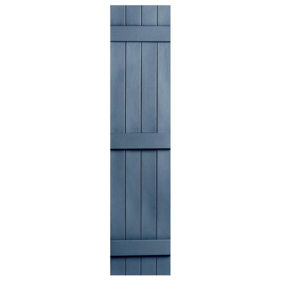 Severe Weather 2-Pack Midnight Blue Board and Batten Vinyl Exterior Shutters (Common: 14-in x 63-in; Actual: 14.31-in x 63-in)