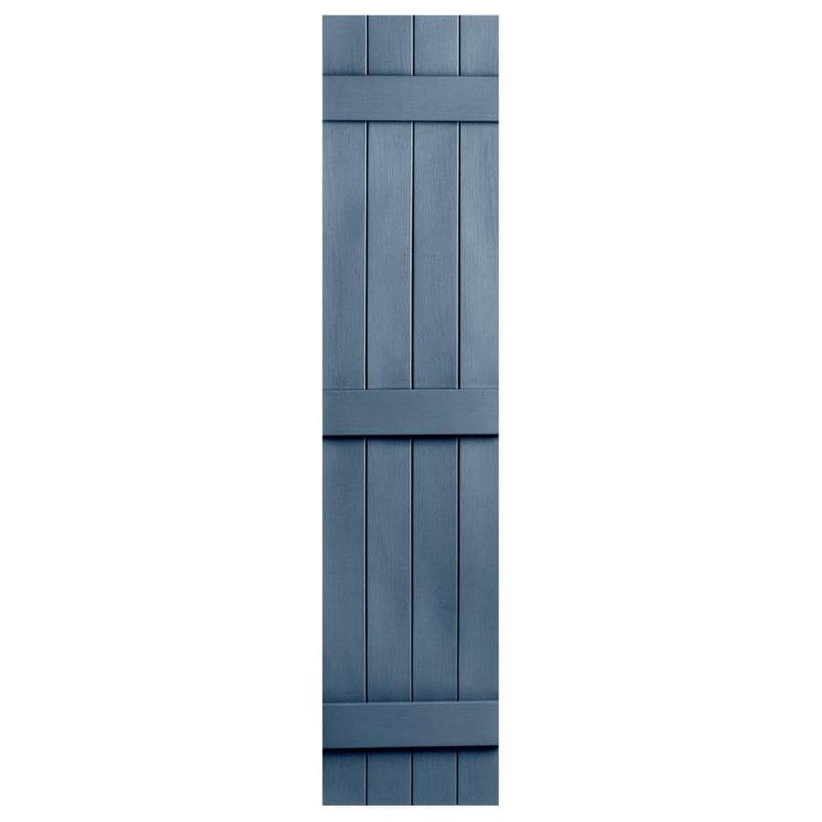 Severe Weather 2-Pack Midnight Blue Board and Batten Vinyl Exterior Shutters (Common: 14-in x 67-in; Actual: 14.31-in x 67-in)