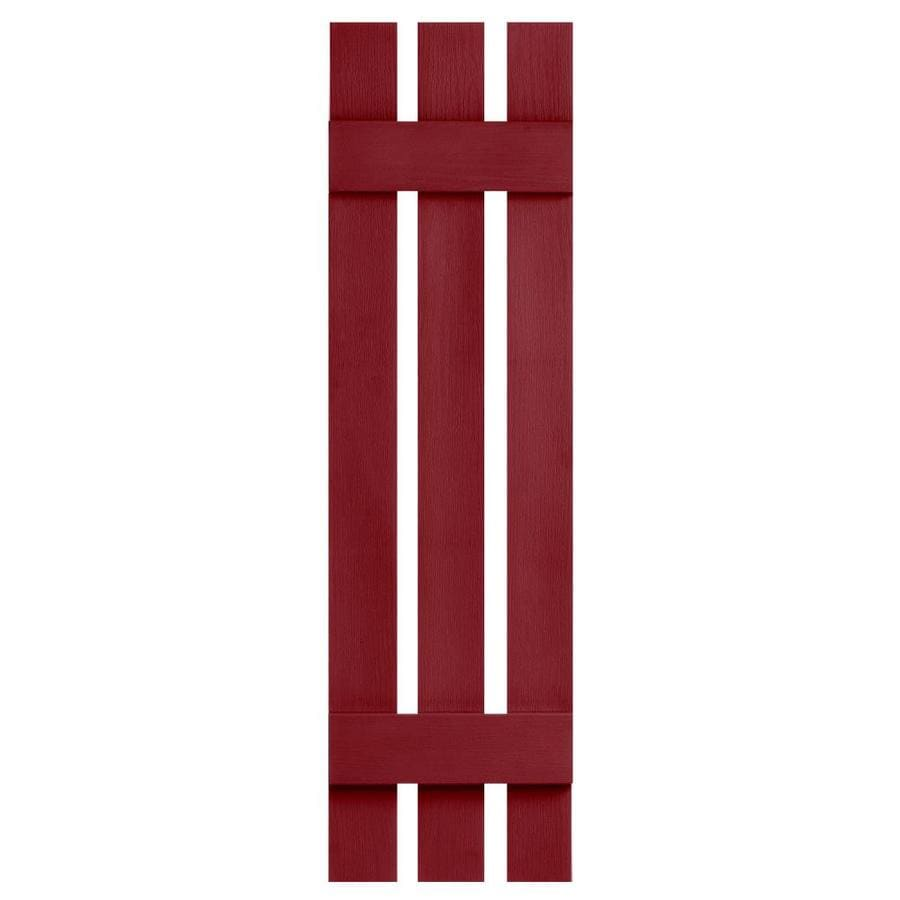 Severe Weather 2-Pack Cranberry Board and Batten Vinyl Exterior Shutters (Common: 12-in x 31-in; Actual: 12.38-in x 31-in)