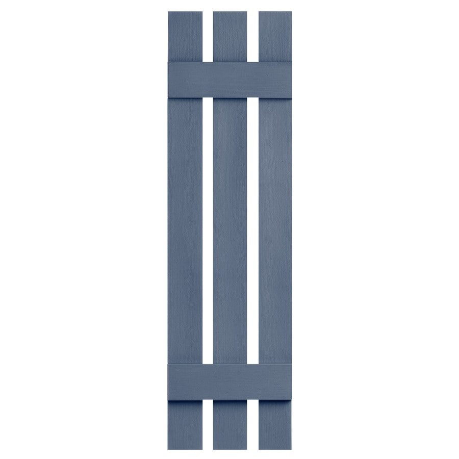Severe Weather 2-Pack Blue Board and Batten Vinyl Exterior Shutters (Common: 12-in x 35-in; Actual: 12.38-in x 35-in)
