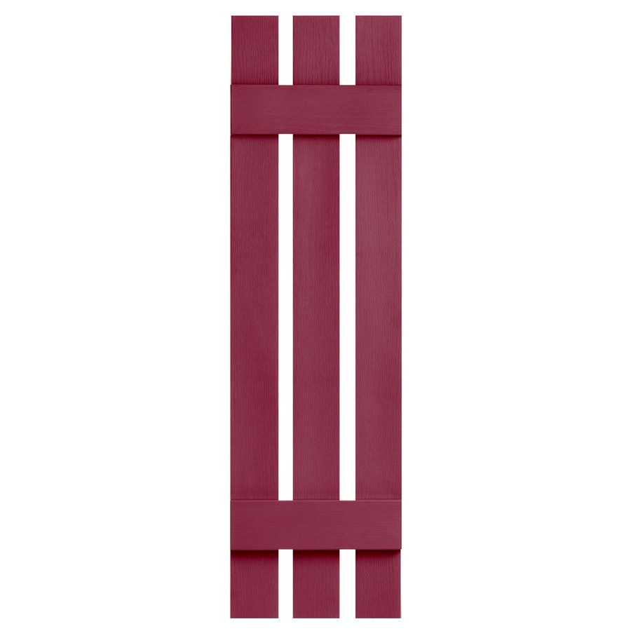 Severe Weather 2-Pack Berry Board and Batten Vinyl Exterior Shutters (Common: 12-in x 51-in; Actual: 12.38-in x 51-in)