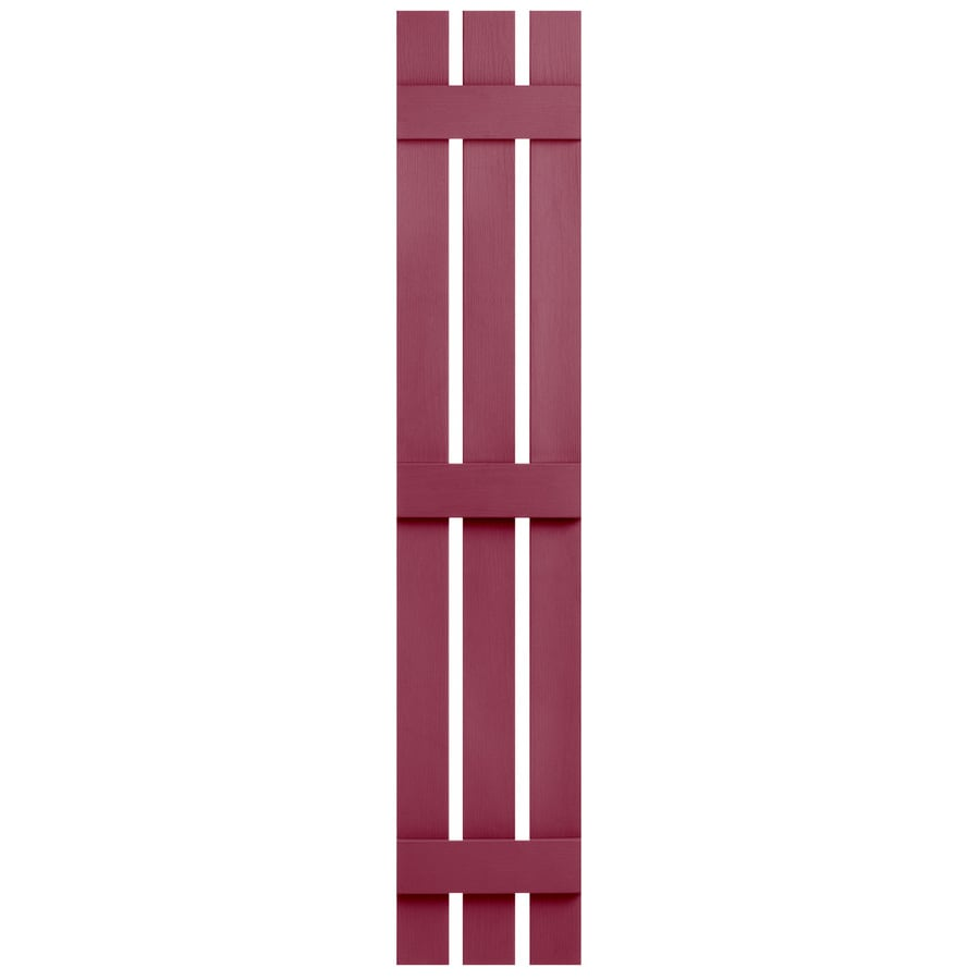 Severe Weather 2-Pack Berry Board and Batten Vinyl Exterior Shutters (Common: 12-in x 55-in; Actual: 12.38-in x 55-in)