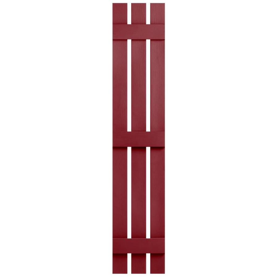 Severe Weather 2-Pack Cranberry Board and Batten Vinyl Exterior Shutters (Common: 12-in x 63-in; Actual: 12.38-in x 63-in)