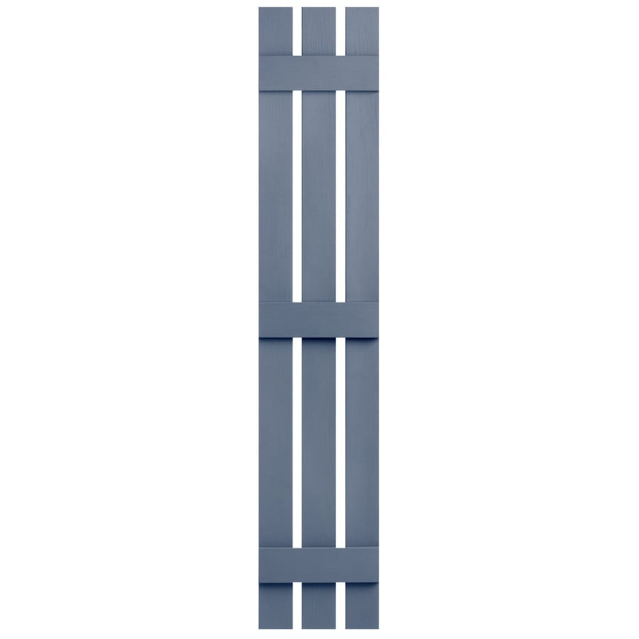 Severe Weather 2-Pack Blue Board and Batten Vinyl Exterior Shutters (Common: 12-in x 71-in; Actual: 12.38-in x 71-in)