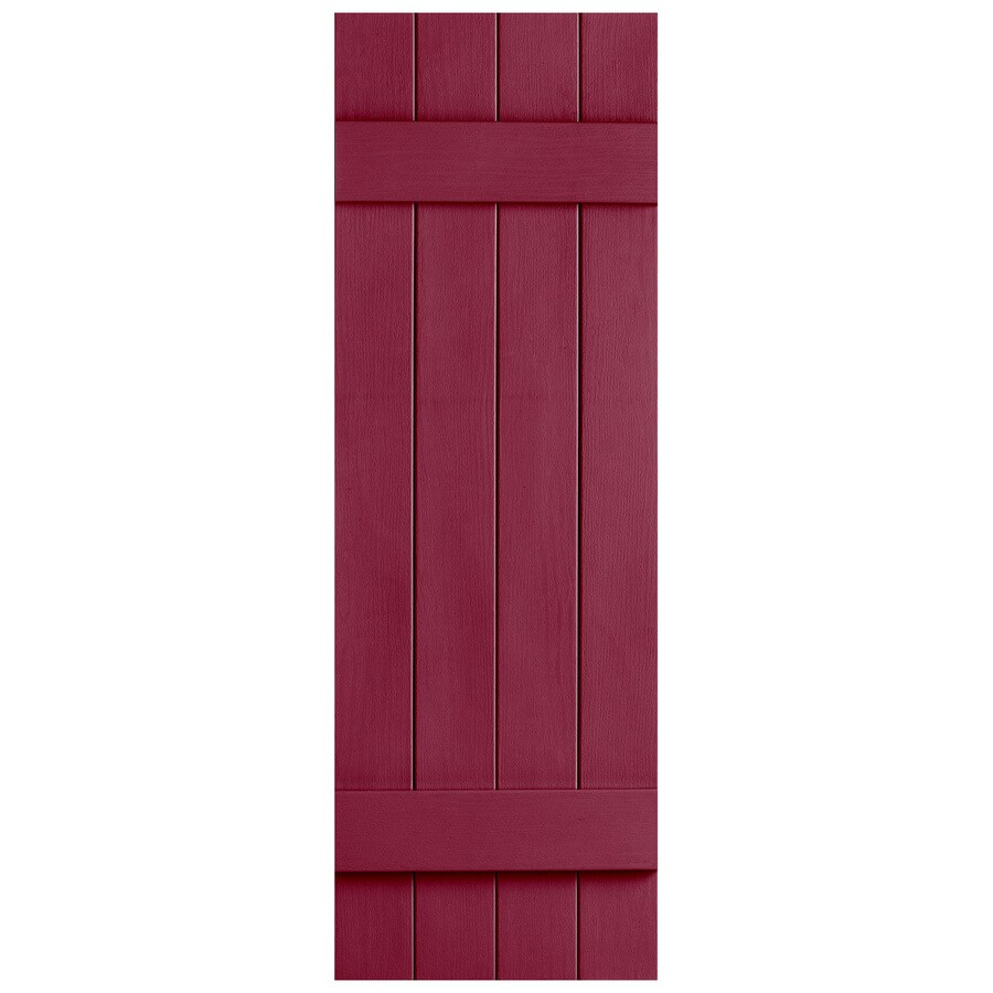 Severe Weather 2-Pack Berry Board and Batten Vinyl Exterior Shutters (Common: 14-in x 35-in; Actual: 14.31-in x 35-in)