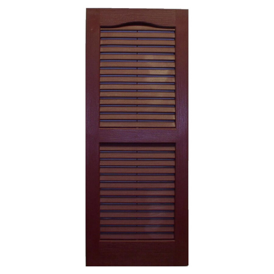 Shop Severe Weather Cranberry Louvered Vinyl Exterior Shutter At