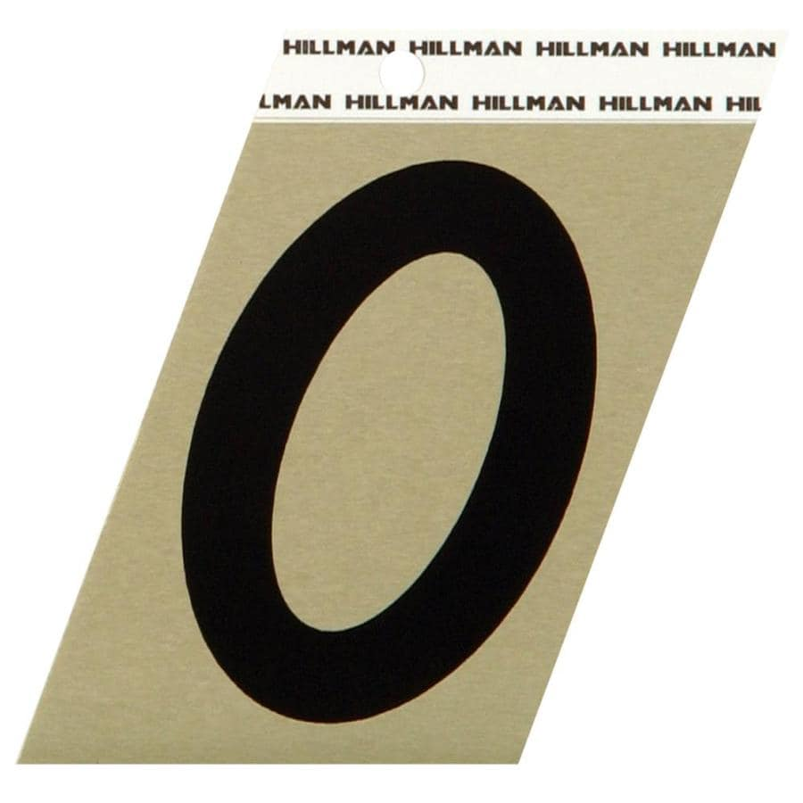 Hillman Sign Center 3-in Black and Gold House Number 0