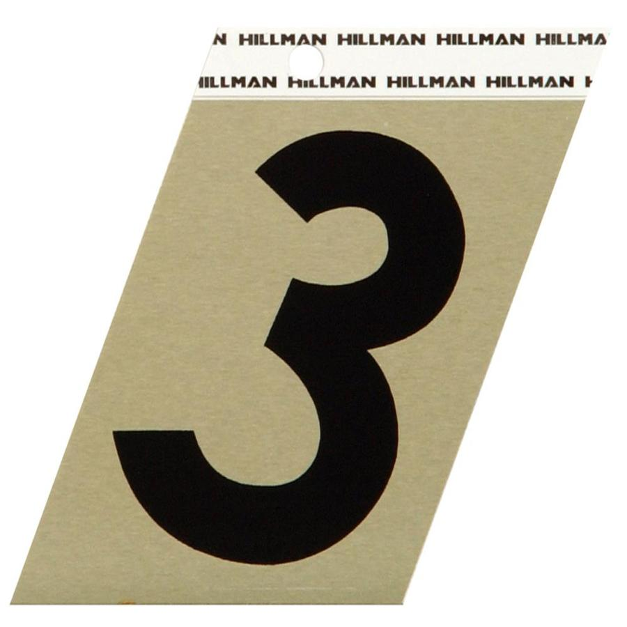 The Hillman Group 3-in Black and Gold House Number 3