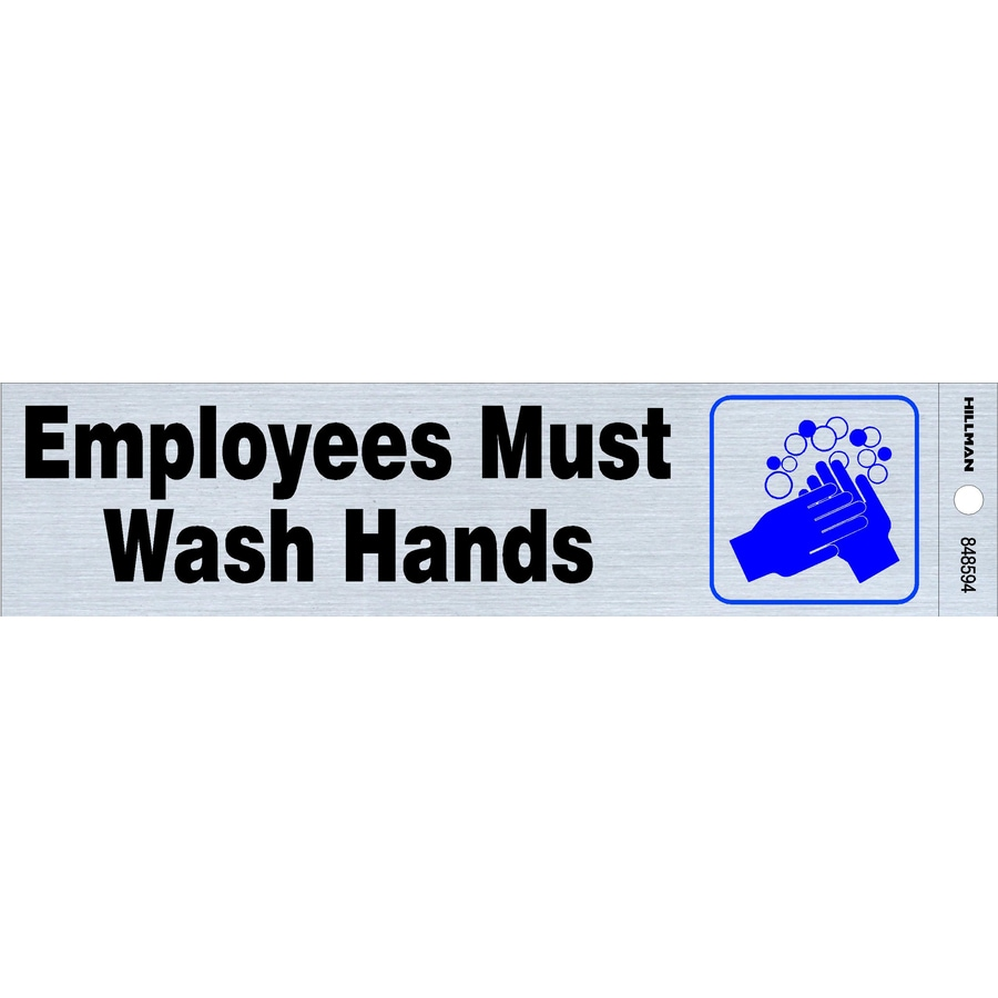 The Hillman Group 2-in House Letter Wash Hands