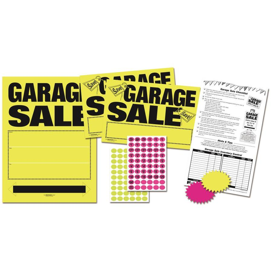 Hillman 8-in x 12-in Garage Sale Sign