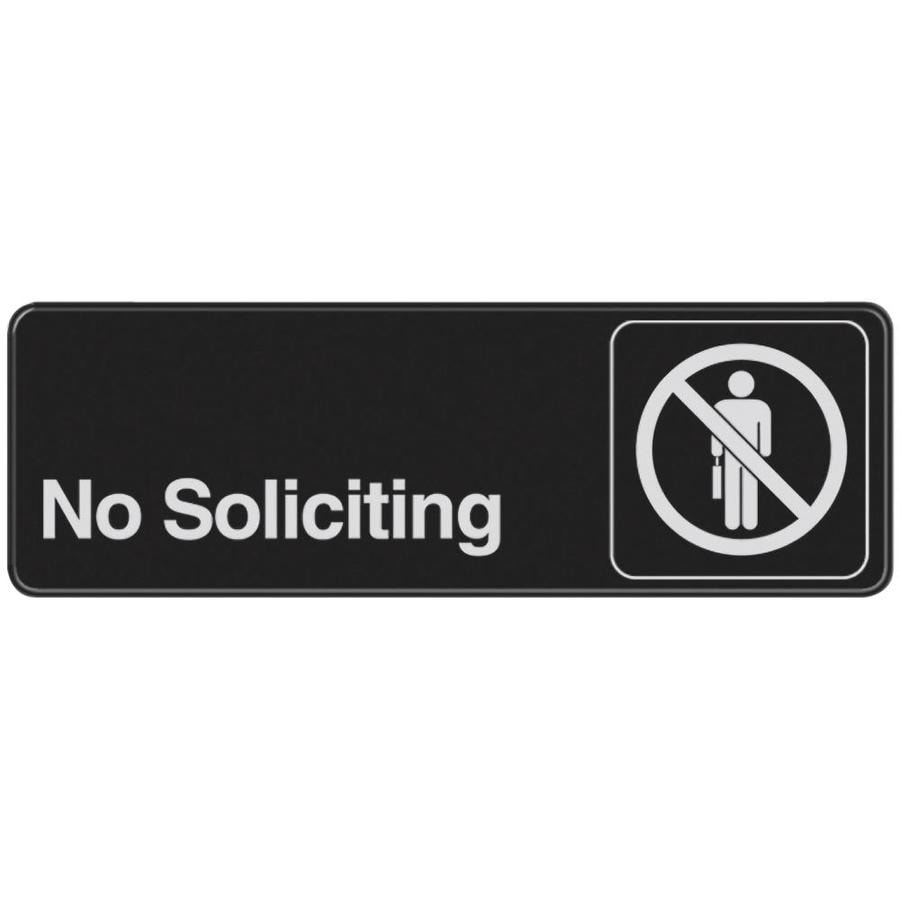 Hillman 3-in x 9-in Soliciting Sign