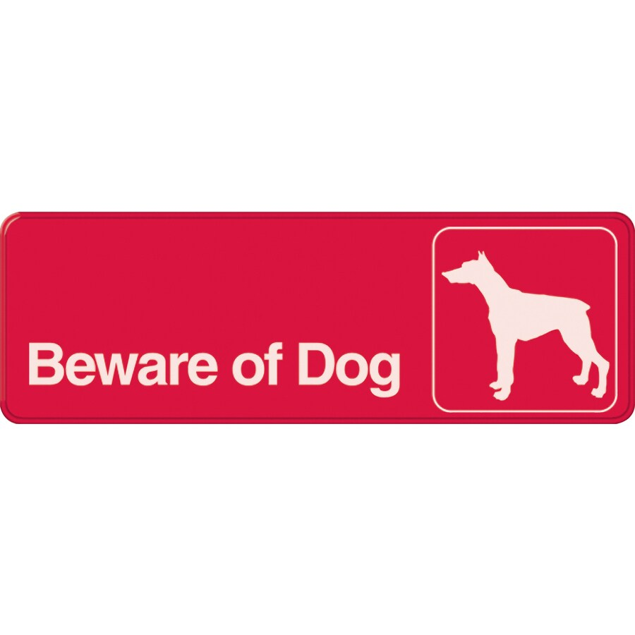 The Hillman Group 3-in x 9-in Beware Of Dog Sign