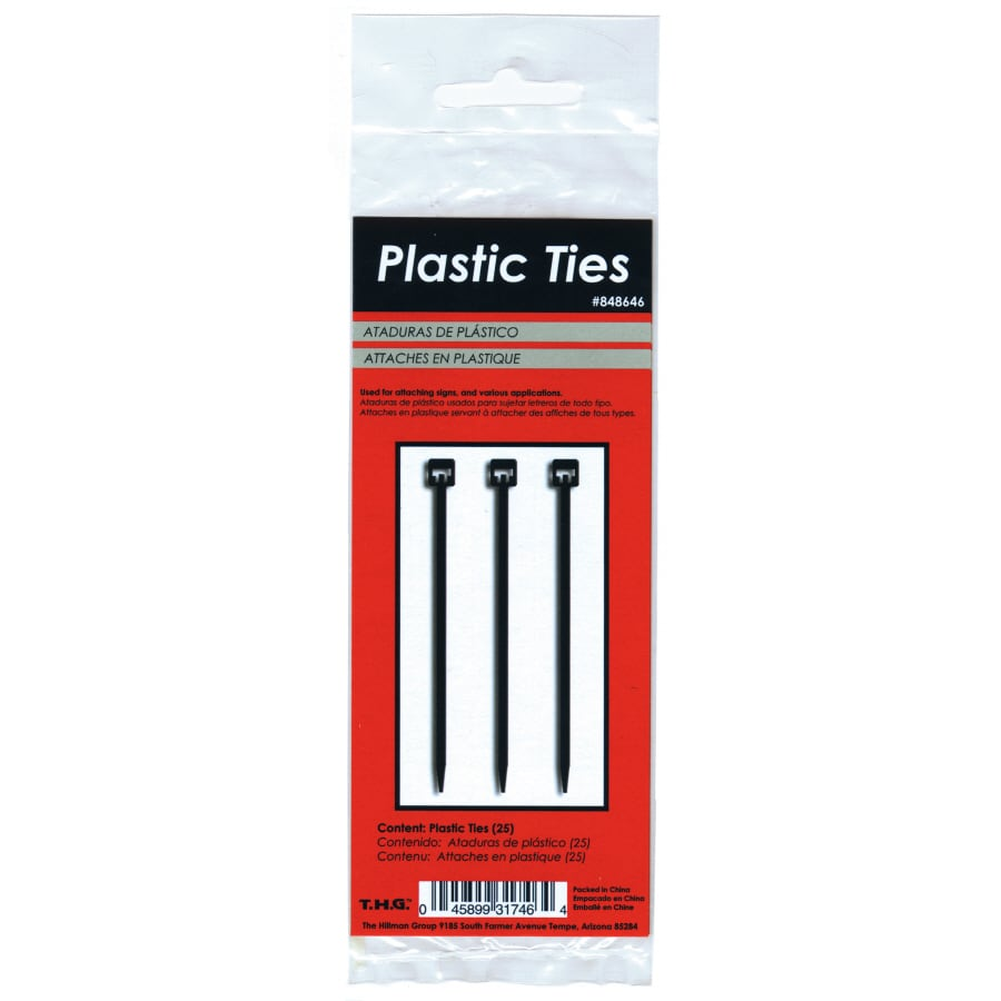 Hillman 25-Pack Nylon Cable Ties