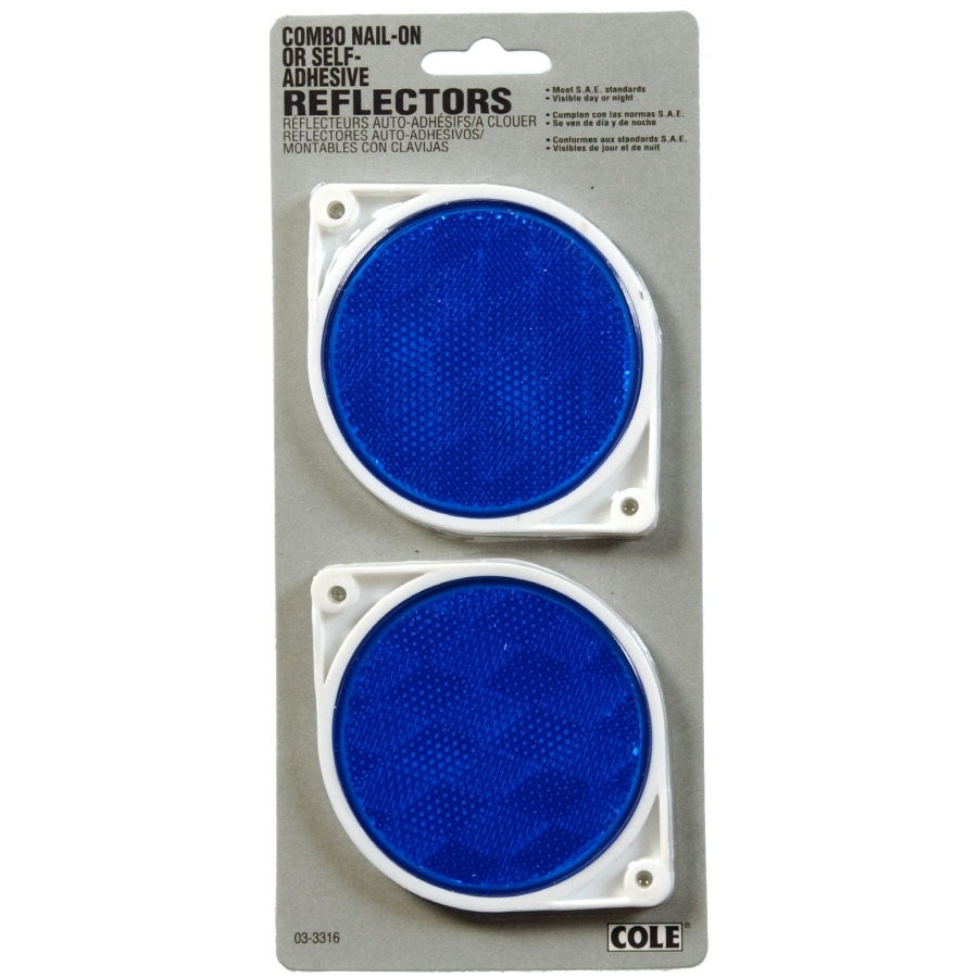 Hillman Sign Center 2-Pack 3-in Blue Round Reflectors