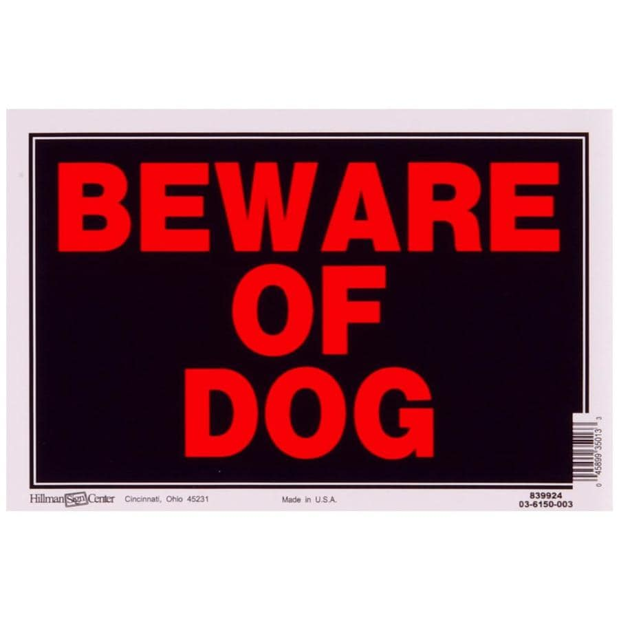 Hillman 8-in x 12-in Beware Of Dog Sign