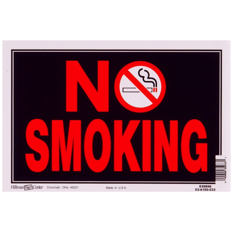 The Hillman Group 8-in x 12-in Smoking Sign