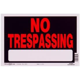5e59fa7d322e Hillman 8-in x 12-in Trespassing Sign