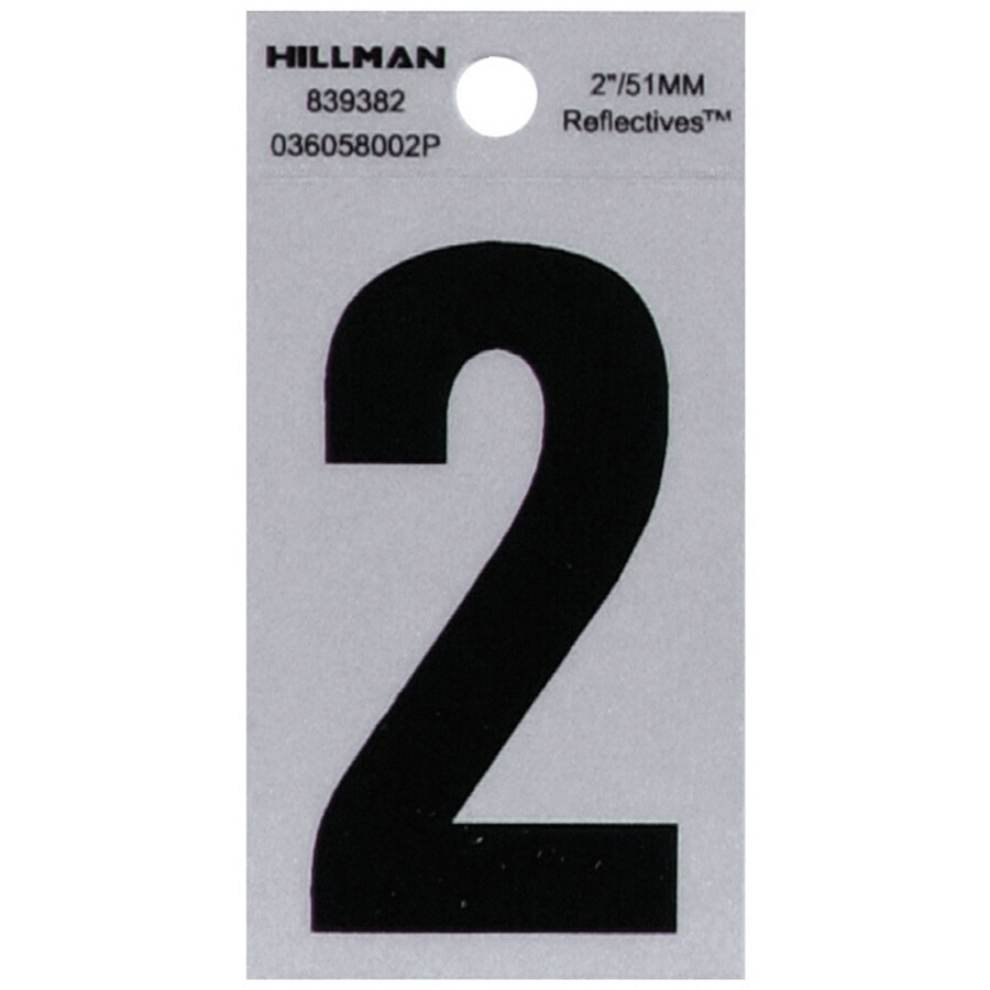 The Hillman Group 2-in Reflective Black House Number 2