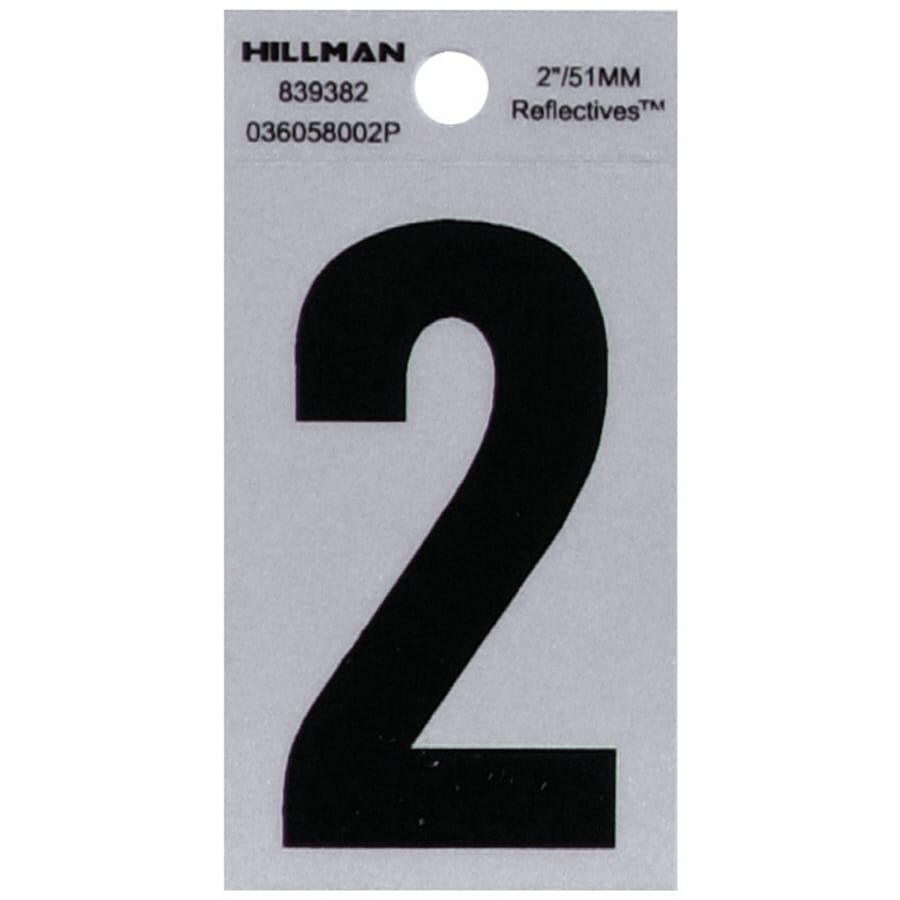 Hillman 2-in Reflective Black House Number 2