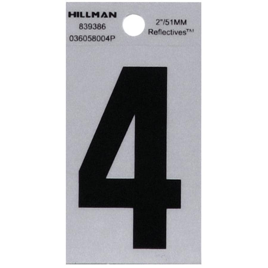 The Hillman Group 2-in Reflective Black House Number 4