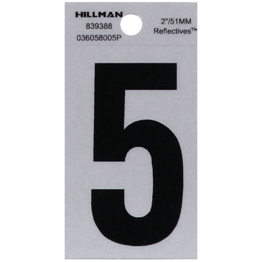 The Hillman Group 2-in Reflective Black House Number 5