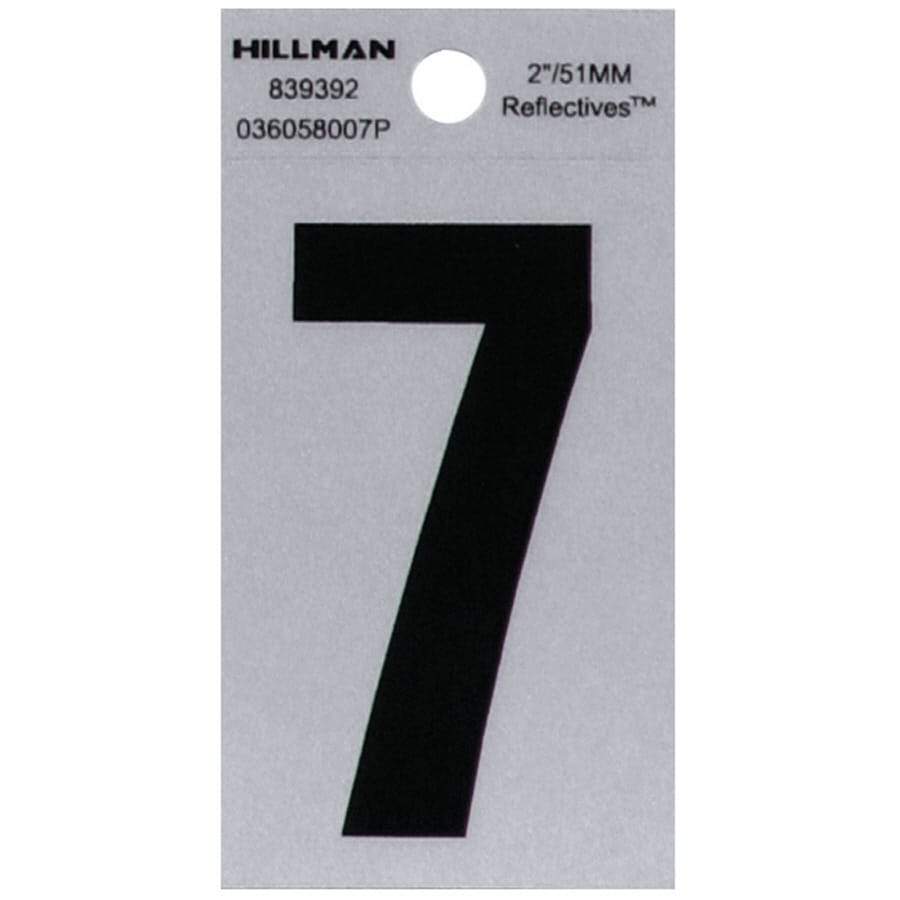 Hillman 2-in Reflective Black House Number 7